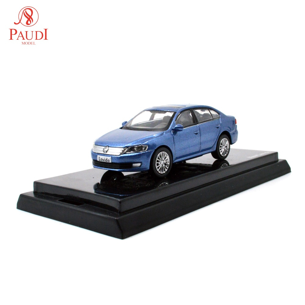 1/64 1:64 1 64 VW New Lavida Blue Diecast Toy Car Original Authorized Authentic Kids Toys