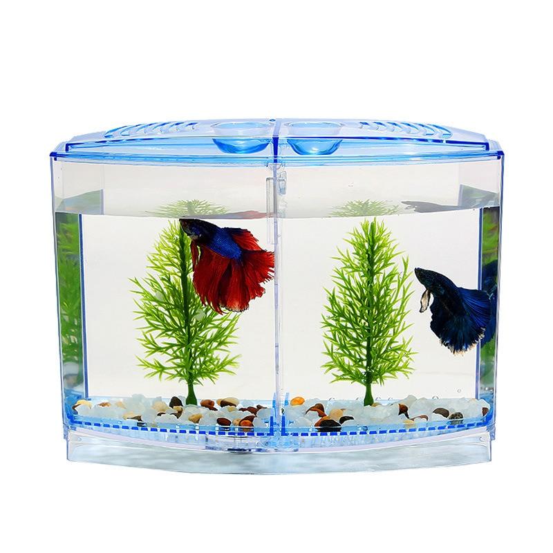 Mini Fish Tank Aquarium Betta Box Transparent Arcylic Fish Breeding Box Double Guppies Hatching Double Layer Incubator