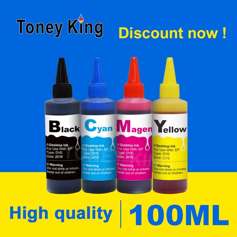 Toney Kit Rei 100ml Garrafa De Recarga De Tinta Corante Para Canon PG CL 50 51 XL PG50 CL51 PG-50 CL-51 PG50XL CL51XL Cartuchos de Impressora