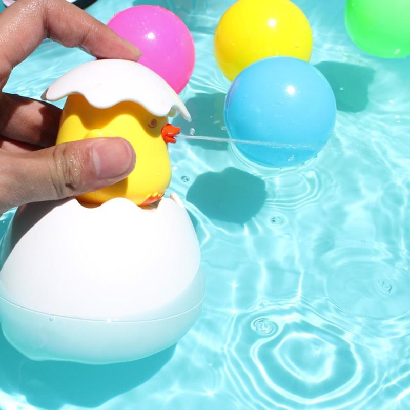 Bebé lindo pingüino de pato huevo de baño juguete niños agua rociador baño rociador ducha natación juguetes de baño para agua niños regalo