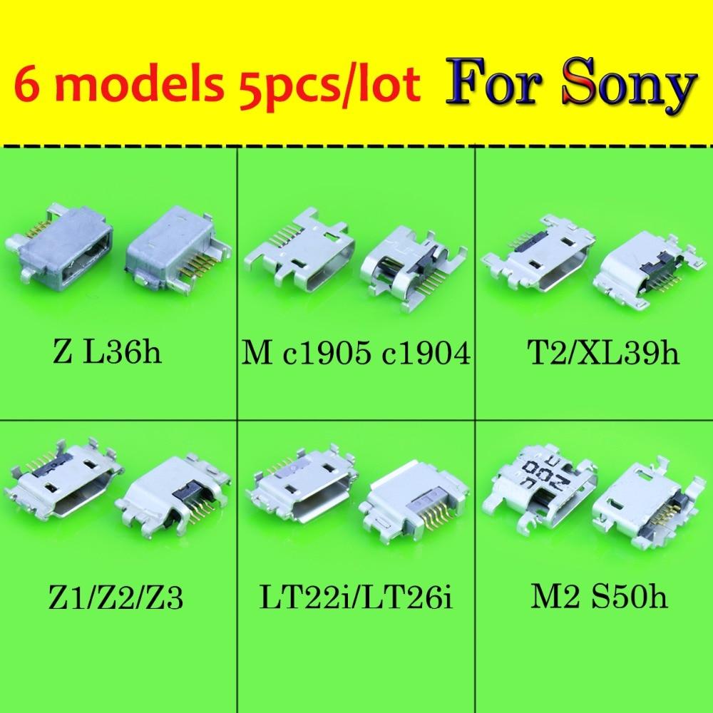 Cargador USB de 30 unids/lote, Conector de puertos estilo zócalo para Sony Xperia Z1 Z2 Z3 Compact Z Ultra XL39H para Sony S Lt26i