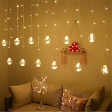 108 LED bola Navidad cadena luces UE/EE. UU. Enchufe vacaciones luz cortina deseo Hada luz cumpleaños X-mas lámpara de fiesta de luz romántica