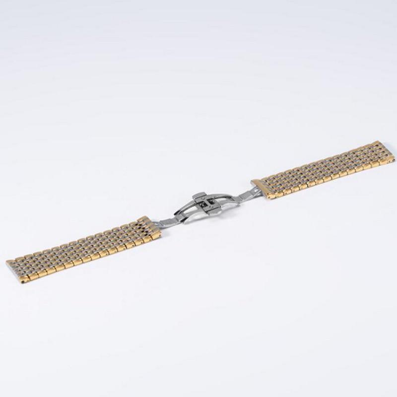 Купить с кэшбэком High Quality Metal  Watch band 13mm 18mm 20mm 22mm 24mm Stainless Steel Watch  Bracelet Strap Men Women Silver Rose Gold
