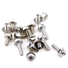 30pcs/lot M4 M5 M6 Hex Cross Flanged Bolt Stainless Steel Screws Hexagon Phillips Flange Head Hex Bolts 304