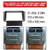 2din Radio Fascia for LEXUS LS-430(UCF-30)/TOYOTA Celsior (UFC30) Stereo Fascia Dash CD Trim Installation Kit 11-326