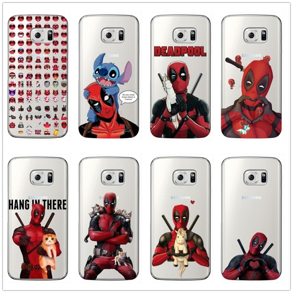 Marvel Deadpool gato suave de silicona caso de teléfono para Samsung Galaxy S6 S7 borde S8 S9 Plus para la nota 8 9