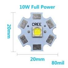 Mejor Precio 1 Uds 3535-5050 1-3W 5 W 6W 10W de potencia completa linterna LED luces del coche de la lámpara de blanco 6500K 10000K con 20mm aluminio PCB