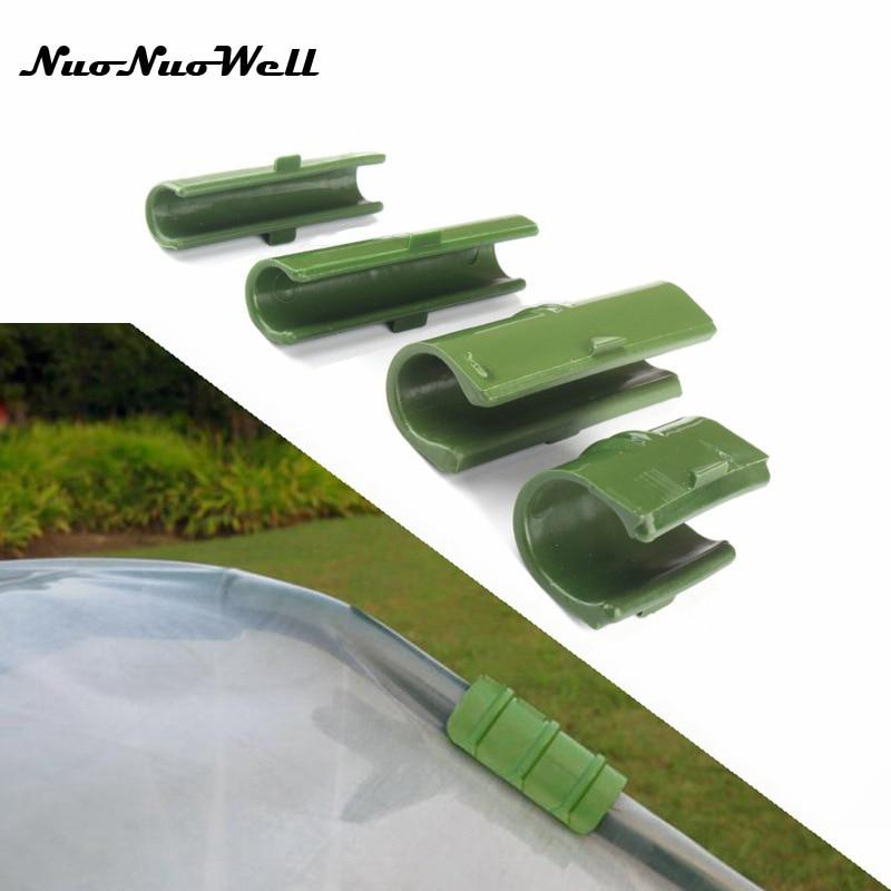 10 Uds de efecto invernadero Marco de tubo de Film Clip abrazadera de red para sombra de jardín accesorios de película de plástico fija Accesorios