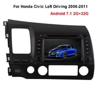 android 7 1 2g32g car dvd gps touch screen display for honda civic left driving 2006 2011 wifi 4 2 radio 8g map card