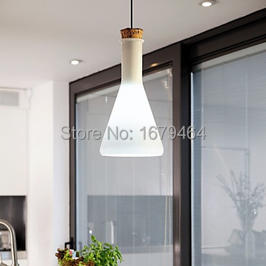 60W Contemporary Pendant Light with Glass Shade in Flask Design 110-240v  - buy with discount