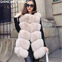 100100 real luxury fox fur vest natural fur coat medium long o neck winter jacket women sh 26