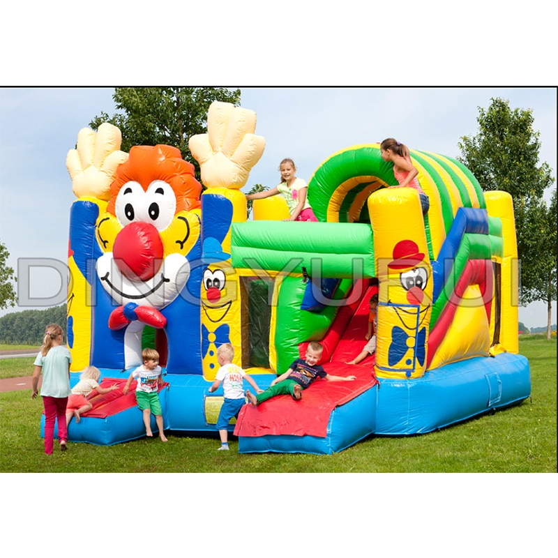 Outdoor commercial clown inflatable bouncer house china inflatable slide in slide combo for children christms decoration inflatable clown