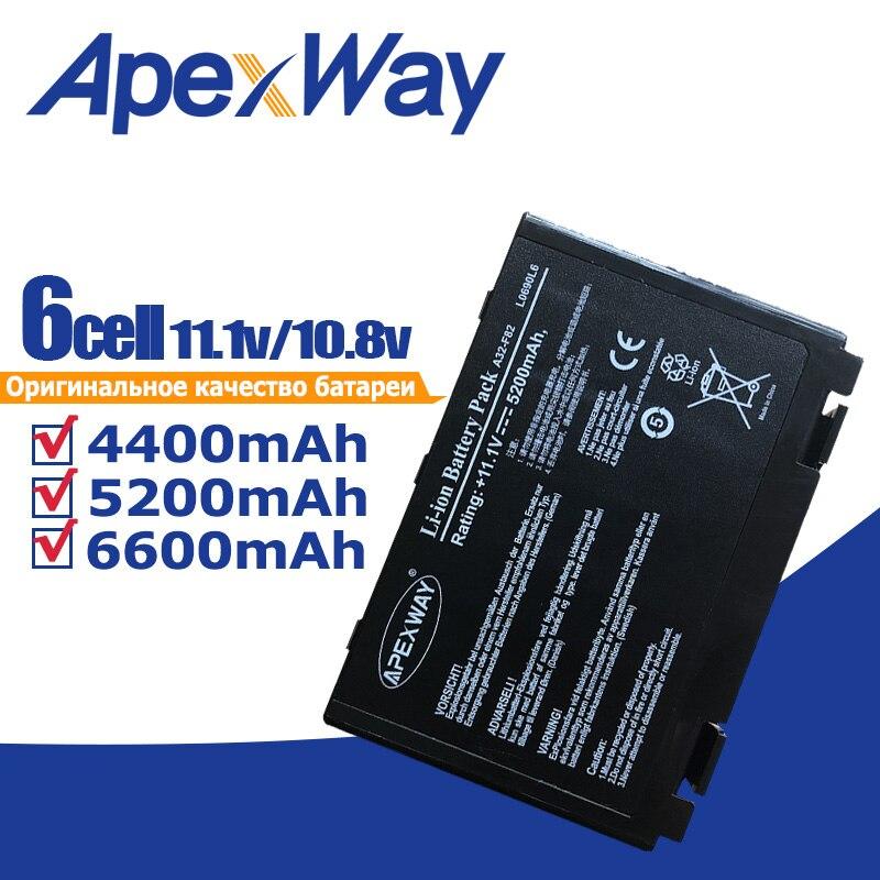 ApexWay, batería para ordenador portátil, a32-f82 a32-f52 para Asus a32 f82 F52 k50ab k40in k50id k50ij K40 k50in k60 k61 k70 k50ij k50 K51 k61ic