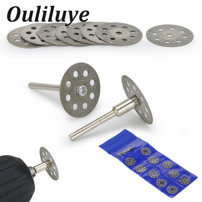 20/22/25mm para accesorios Dremel Muela de Diamante disco de corte de sierra Circular disco abrasivo de diamante herramienta rotativa Dremel
