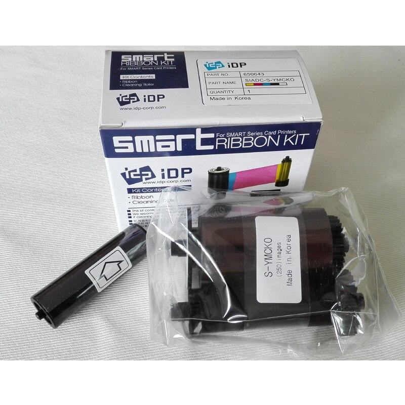 شريط ذكي 650643 أصلي مع مجموعات تنظيف مجانية ، شريط متوافق 650634 لـ idp Smart 30 50S ، طابعة بطاقات
