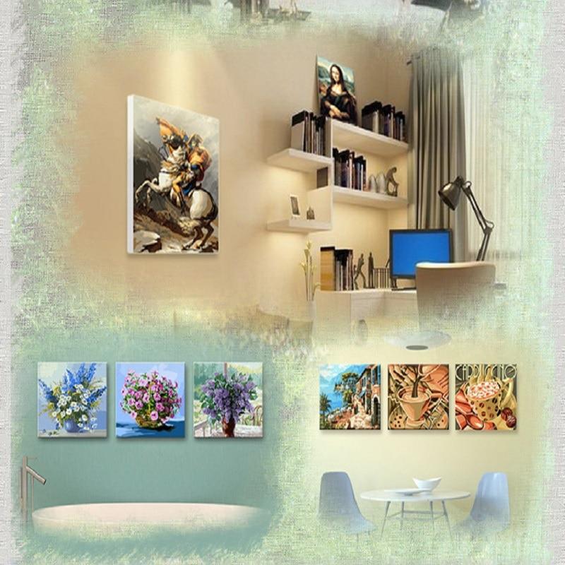 Diy pintados à mão pintura digital bela pintados à mão decoração de casa pintura animal paisagem pintura
