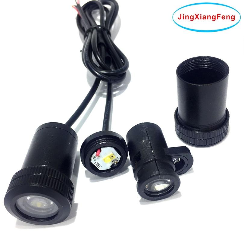 JingXiangFeng luz Led de puerta de coche para Kia para Ford para Hyundai para Lada Led Logo fantasma sombra lámpara de bienvenida luces de advertencia 12V