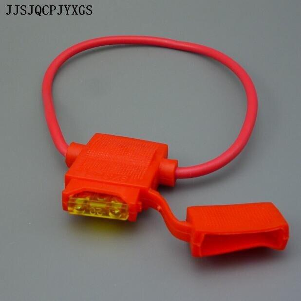 JJSJQCPJYXGS médio Auto fusível da lâmina + à prova d água Titular auto Fusível para fusível mid 1A2A3A5A7. 5A10A15A20A25A30A35A40A