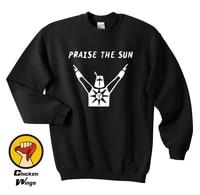 dark souls praise the sun solitaire edition game xbox playstation tumblr funny unisex top crewneck sweatshirt