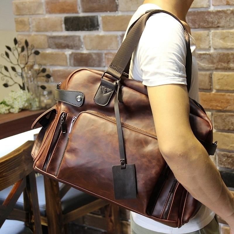 Tidog Crazy horse men's bags leisure bag shoulder bag casual bag