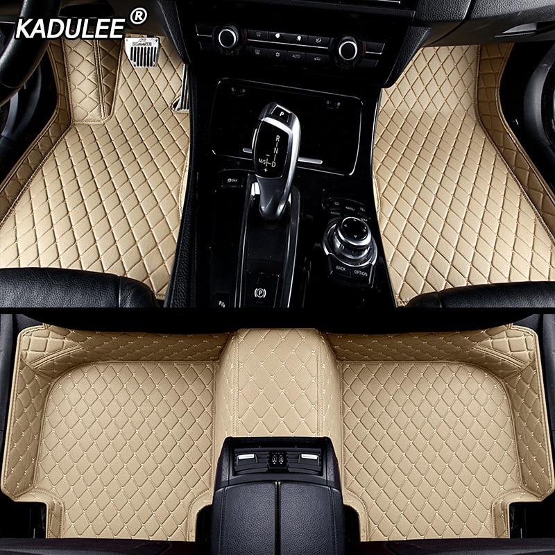 KADULEE alfombrillas personalizadas para coche para peugeot 308 206 508 5008 301 408 2008 207 3008 4008 RCZ alfombras impermeables accesorios para coche