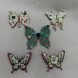 butterfly brooch pins copper with cubic zircon multi color romantic cute fashion women jewelry free shipping insect brooch