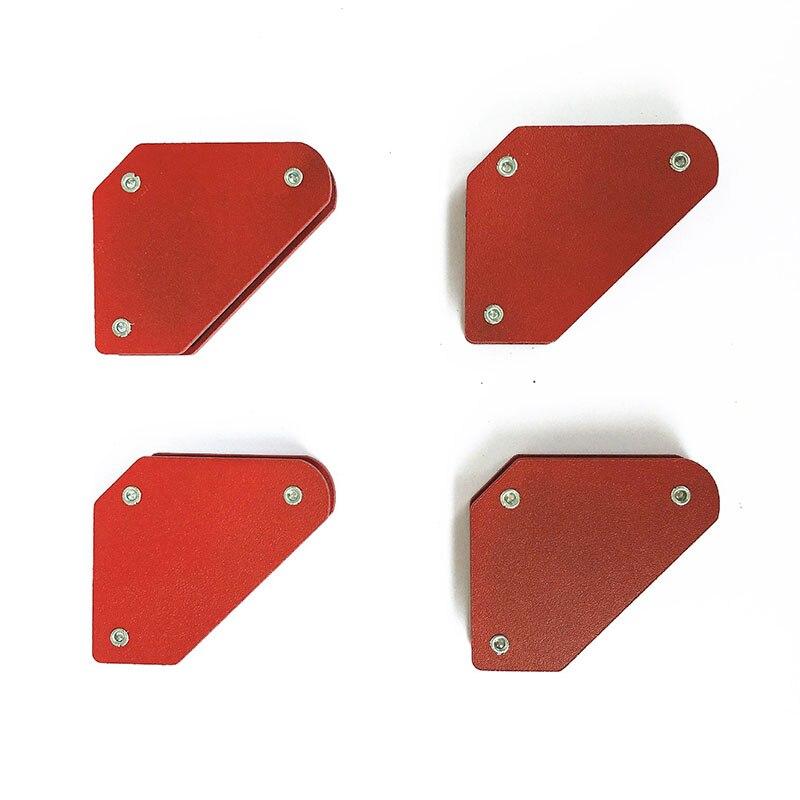 Soportes de abrazadera de neodimio de 4 uds, Mini imanes de soldadura de ángulo múltiple, que nunca se desgastan, posicionador de soldadura de elevación 45 90 135 grados