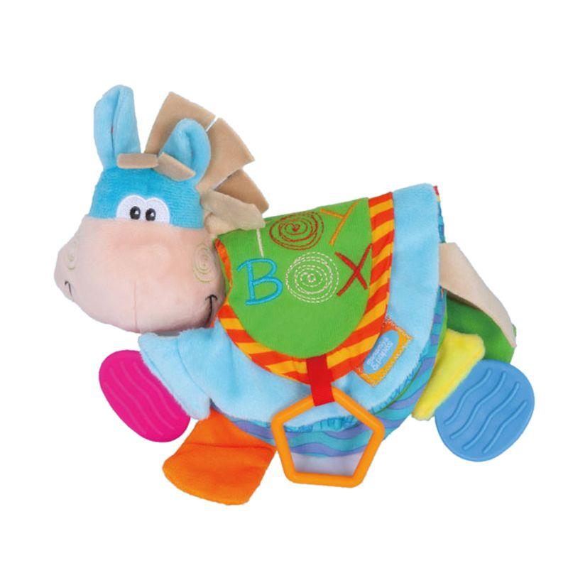 Nouveau-né bébé hochets jouets de dentition mignon âne Animal tissu livre pour les tout-petits apprenant léducation précoce jouets cadeau de noël nouveau