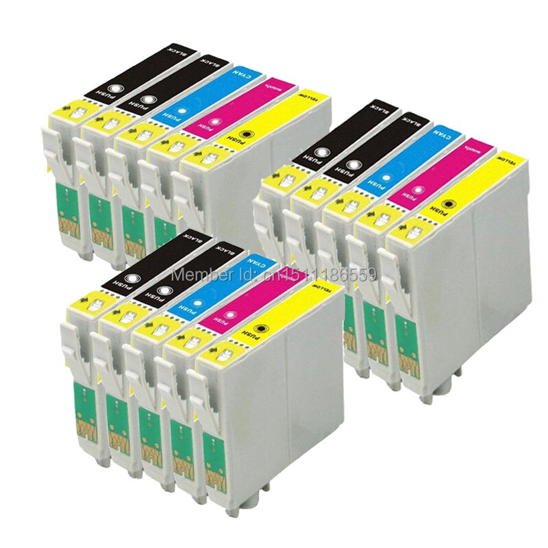 15 Pack Ink cartridges for Compatible EPSON T1295 WorkForce WF-7015 WF-7515 WF-7525 Printer