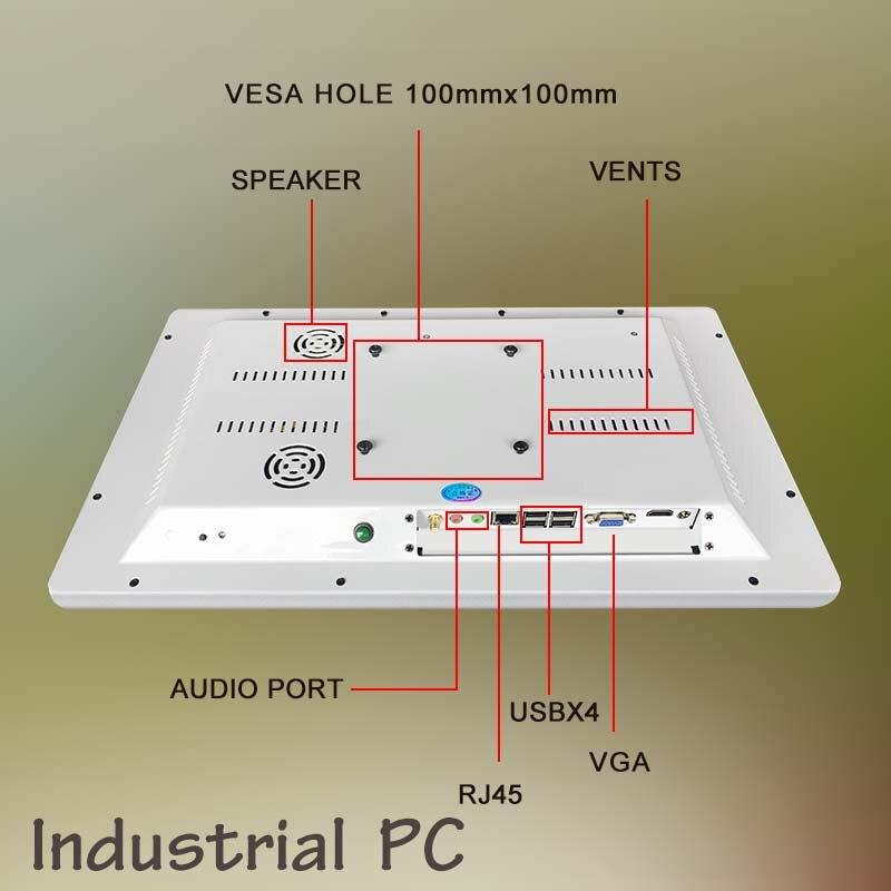 Pc todo en uno de 18,5 pulgadas con monitor táctil capacitivo/soporte independiente, ordenador todo en uno