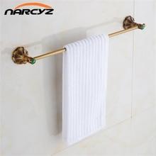 Antyczny brąz wykończenie wc mosiężny podwójny uchwyt na ręcznik w stylu Vintage wieszak na ręczniki ręcznik Bar w uchwyt na ręczniki akcesoria łazienkowe 9083 K