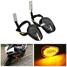 2 PCS Motorcycle LED Turn Signal Light Waterproof Amber Led Indicator Blinker Flash Bike Lamp For Yamaha YZF R1 R6 R6S Universal
