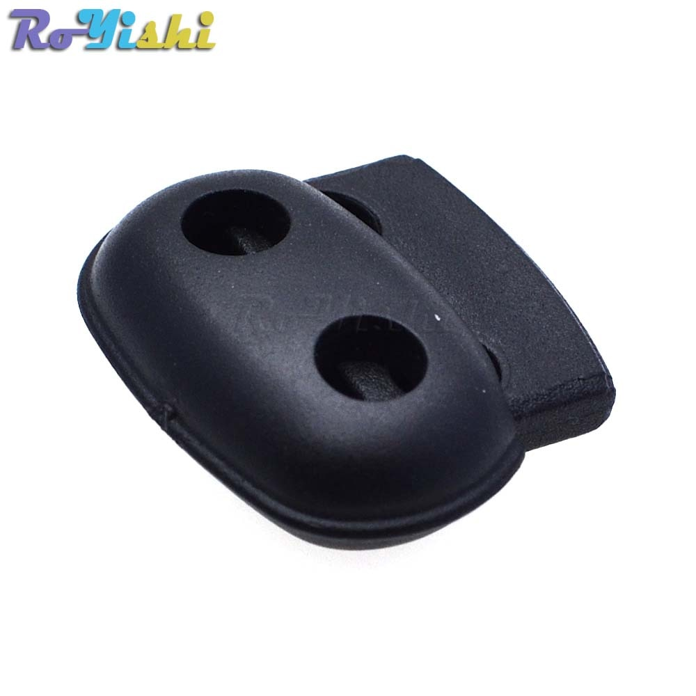 100 unids/pack plástico cable cerradura tapón clip de palanca negro 25mm * 21mm * 8mm