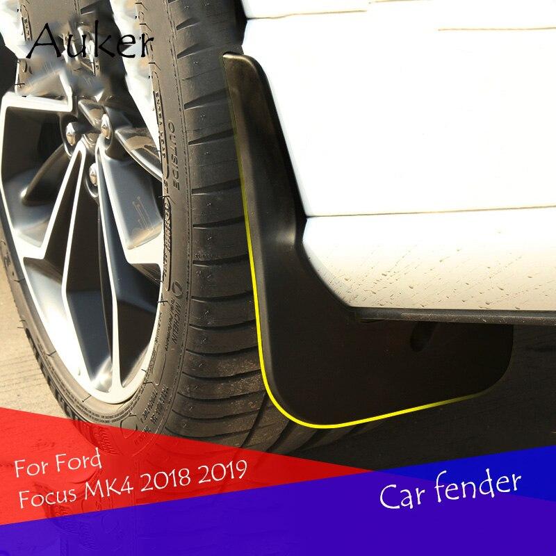 Garde-boue avant et arrière pour Ford Focus Focus, accessoires de voiture, protection contre les éclaboussures, style 4 pièces/ensemble, MK4 2018 2019