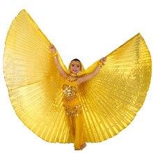 Danse du ventre déguisement ailes enfants Isis ailes enfants danse du ventre Bollywood gitane filles Bellydance ailes 11 couleurs bâtons sac
