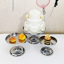 Plateau à gâteaux en métal   Support à gâteau, dôme en miroir plateau à gâteaux, outils vintage en argent pour les gâteaux et les bonbons 1 pièces-7 pièces