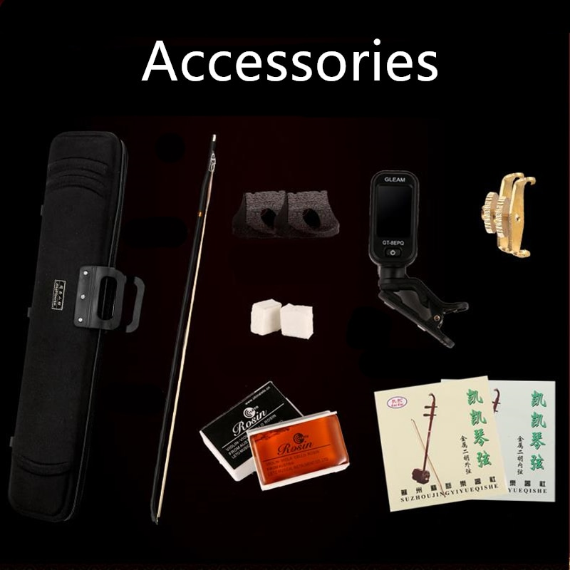 Black Rosewood erhu Chinese Musical Instruments erheen with bag and bow Full set of Accessories selfstudy book enlarge
