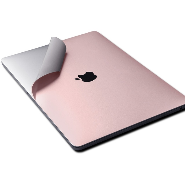 Premium A1502 Anti-scratch 4 en 1 cubierta inferior superior de vinilo portátil piel protectora para MacBook Pro temprano 13 pulgadas A1502 oro rosa