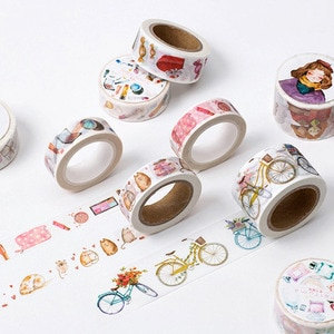 Lipstick Washi Tape Girls High Heeled Shoes Perfume Masking Tape for DIY Scrapbooking