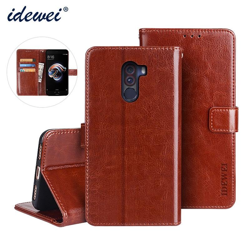 Xiaomi Pocophone F1 Case Cover Luxury Leather Phone Case For Xiaomi Pocophone F1 Protective Flip Cas