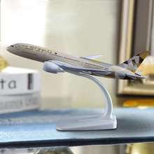 20cm Etihad avion modèle B787 artisanat alliage Boeing 787 compagnie aérienne avion Aviation Souvenir adulte enfants cadeau danniversaire jouets