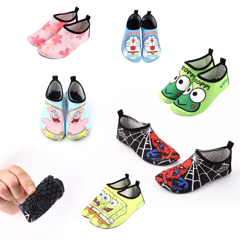 Kids Beach Summer Outdoor Wading Shoes Swimming Surf Sea Slippers Quick-Dry Aqua Shoes Boys Girls So