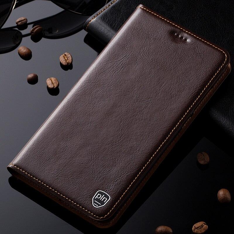 Para Huawei Honor X1 caso cubierta de cuero genuino para los medios de comunicación de X1 soporte magnético Flip teléfono caso