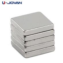U-JOVAN 20 pièces N35 10x10x2mm bloc artisanat permanent puissant aimant terre Rare Ndfeb réfrigérateur néodyme aimants 10*10*2