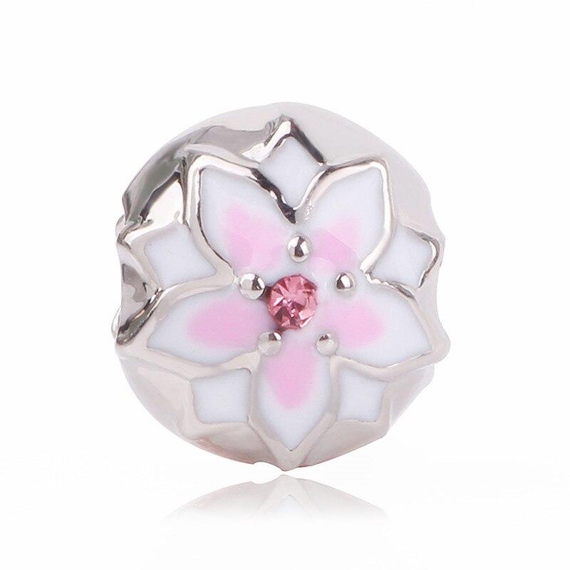 Couqcy, новинка, оригинальный браслет, серебряный цвет, сделай сам, эмаль, Орхидея, ромашка, цветок, сердце, бисер, ювелирное изделие, Maki