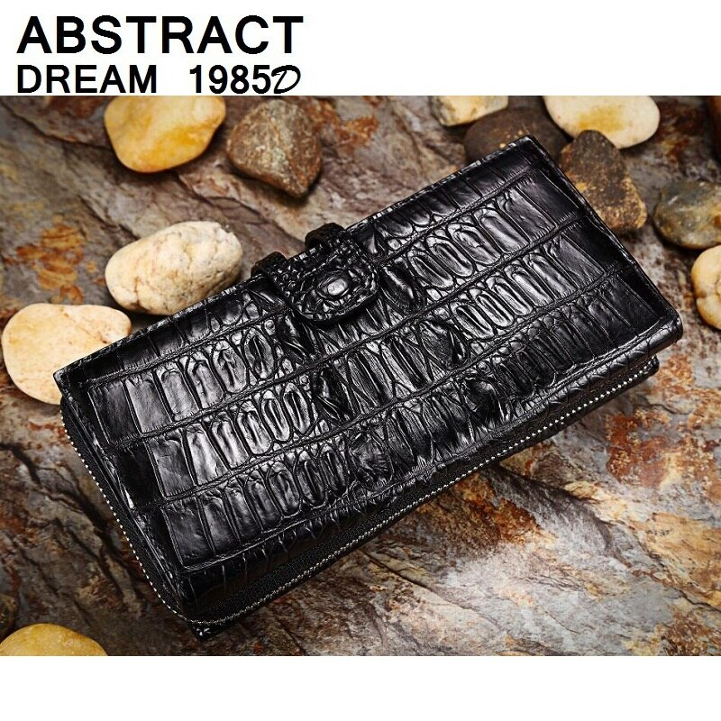 real leather men wallet designer Alligator tail Classic Wallet men's luxury quality wallets Zipper Hasp casual Business purse