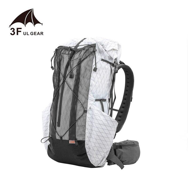 3f ul engrenagem 35l-45l leve durável viagem acampamento caminhadas mochila ao ar livre ultraleve pacotes frameless xpac & uhmwpe sacos
