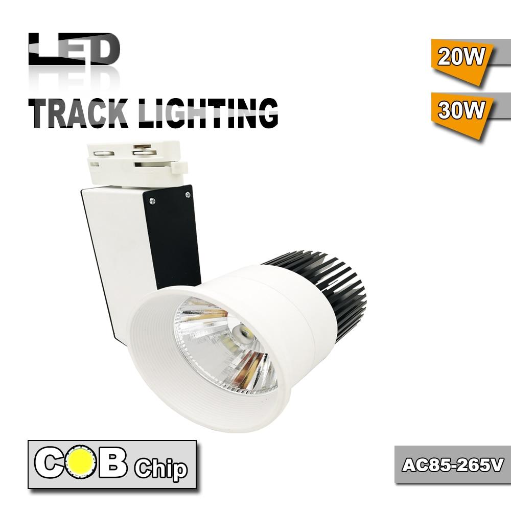 Negro añadir cuerpo blanco AC85-265V 30 w COB LED iluminación de pista para tienda Muzeum y tienda de ropa iluminación de pista flexible