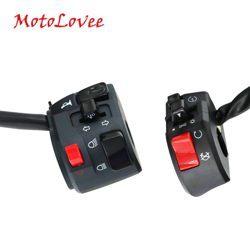 MotoLovee 22mm Motorcycle Switches Motorbike Horn Button Turn Signal Electric Fog Lamp Light Start H