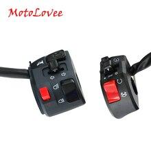 MotoLovee 22mm przełączniki motocyklowe motocykl róg przycisk włącz sygnał elektryczny lampa przeciwmgielna światło Start kierownica przełącznik kontrolera